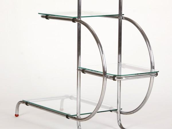 Art Deco Stahlrohretagere