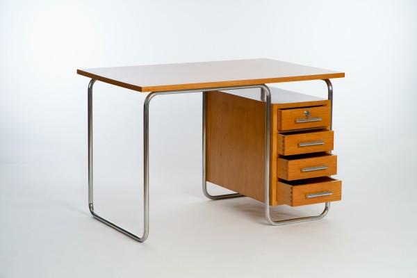 Stahlrohr Schreibtisch | Fa. Vichr & Co., Prag